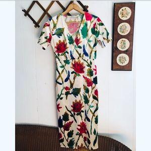 Zara • Velvet Bold Floral Dress